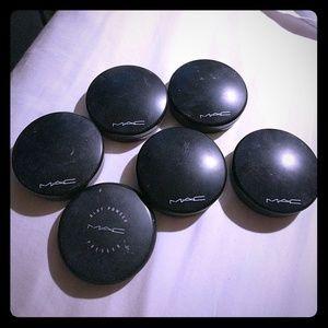 6 EMPTY mac compact powders